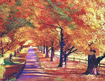 Painting - Maple Tree Lane by David Lloyd Glover