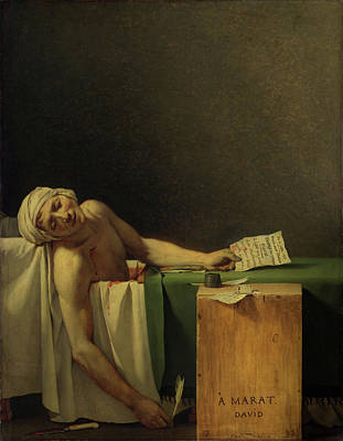Painting - Marat Assassinated by Jacques Louis David