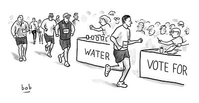Cod Drawing - Marathon Voting by Bob Eckstein