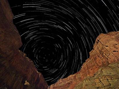 Photograph - Marble Canyon Star Trails by Walt Sterneman