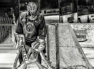 Photograph - Marc Andre Fleury Vegas Golden Knights by Michael Rogers