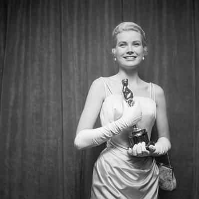 Photograph - March 30, 1955, Hollywood, Grace Kelly by Michael Ochs Archives