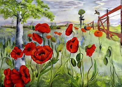 Painting - March With You by Sandra Day