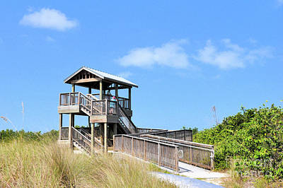 Photograph - Marco Island Florida  ..beach Lookout by Elaine Manley