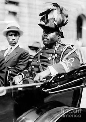 Photograph - Marcus Garvey, Then Head Of The by New York Daily News Archive