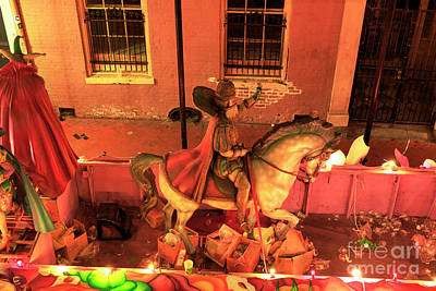 Photograph -  Mardi Gras King Float New Orleans by John Rizzuto