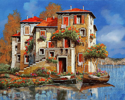 Automotive Paintings Royalty Free Images - Mareblu-tetti Rossi Royalty-Free Image by Guido Borelli