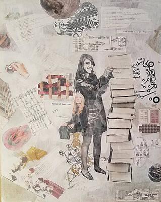 Mixed Media - Margaret Hamilton by John Steven Calder