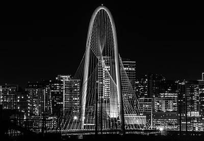 Photograph - Margaret Hunt Hill Bridge At Night by Dan Sproul