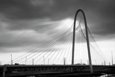 Photograph - Margaret Hunt Hill Bridge In Black And White - Large Marge - Dallas Texas by Jason Politte