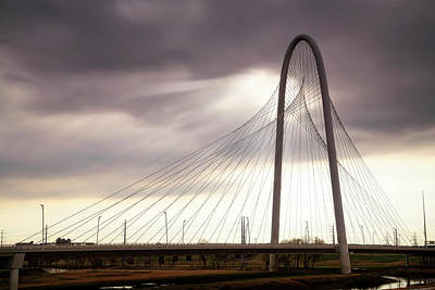 Photograph - Margaret Hunt Hill Bridge - Large Marge - Dallas, Texas by Jason Politte