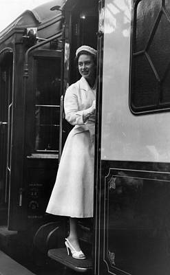 Photograph - Margaret On Train by John Chillingworth