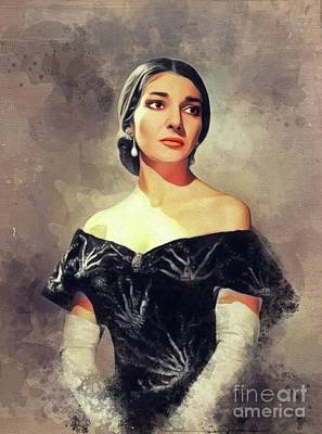 Jazz Royalty-Free and Rights-Managed Images - Maria Callas, Music Legend by John Springfield