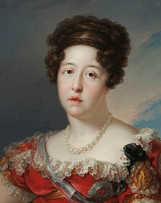 Painting - Maria Isabel Of Braganza by Vicente Lopez Portana