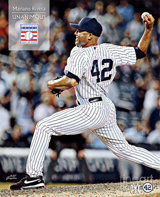 Digital Art - Mariano Rivera - Hall Of Frame by CAC Graphics