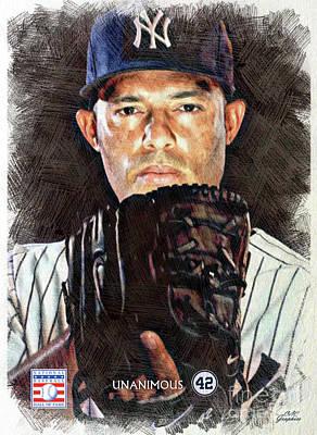 Digital Art - Mariano Rivera - The Closer by CAC Graphics