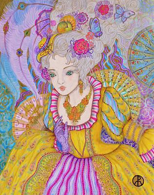 Painting - Marie Antoinette by Ellie Perla