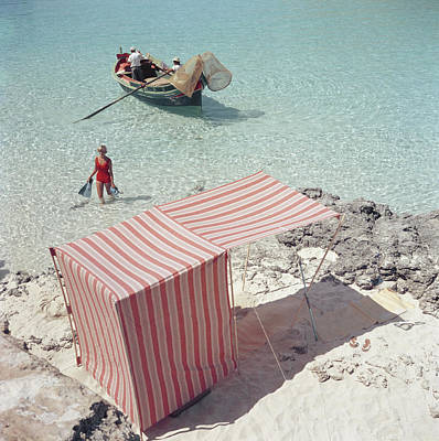 Beach Photograph - Marietine Birnie, Blue Lagoon by Slim Aarons