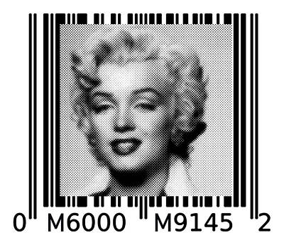 Painting - Marilyn Barcode 6000 Upc Halftone Dots by Robert R Splashy Art Abstract Paintings