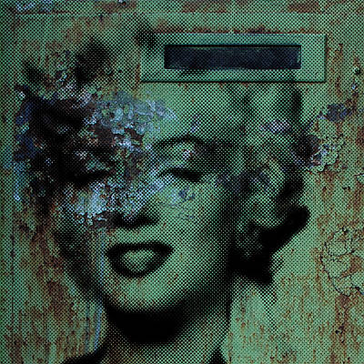 Painting - Marilyn Grunge In Green by Robert R Splashy Art Abstract Paintings
