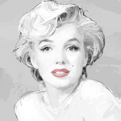 Painting - Marilyn Monroe 4 Silver by Jackie Jacobson