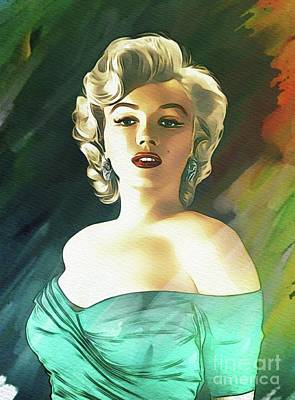 Maps Maps And More Maps - Marilyn Monroe, Actress by Esoterica Art Agency