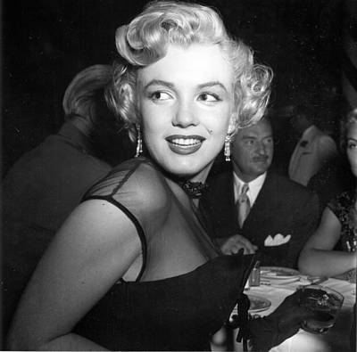 Photograph - Marilyn Monroe At A Banquet by Michael Ochs Archives