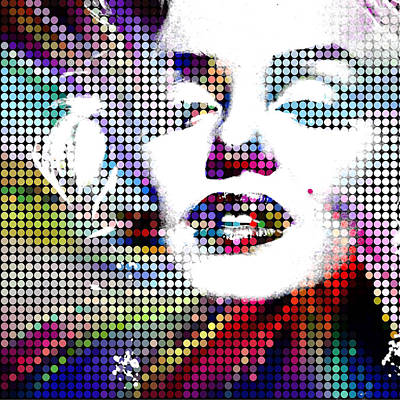 Painting - Marilyn Monroe Forever Alive by Robert R Splashy Art Abstract Paintings