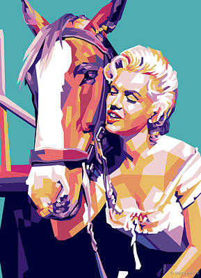 State Fact Posters Rights Managed Images - Marilyn Monroe in River of No Return Royalty-Free Image by Stars on Art