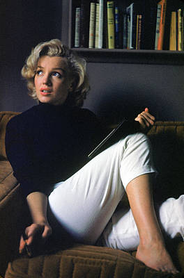 Photograph - Marilyn Monroe Relaxing At Home by Alfred Eisenstaedt