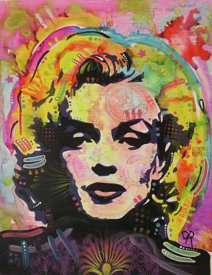 Painting - Marilyn Pop 3 by Dean Russo Art