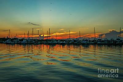 Photograph - Marina Reflection Sunrise by Tom Claud