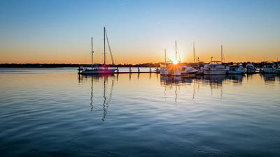 Photograph - Marina Sunset by Van Sutherland