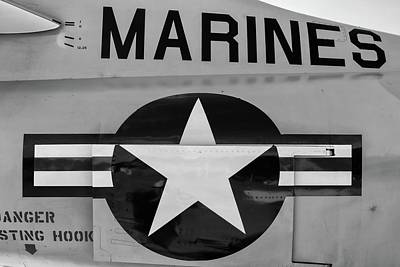 Photograph - Marines Skyhawk by Chris Buff