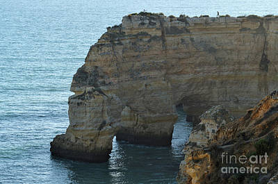 Photograph - Marinha Beach Cliffs Marvel And Sea by Angelo DeVal