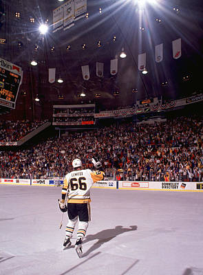 Photograph - Mario Lemieux Waves To The Crowd by B Bennett