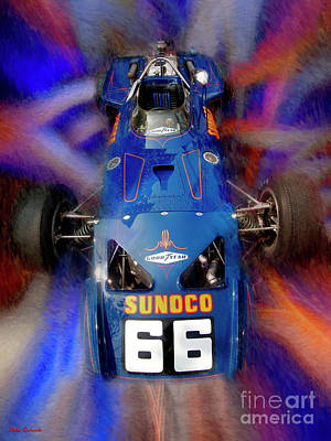 Photograph - Mark Donohue 1970 Lola T153 Sunoco Special by Blake Richards