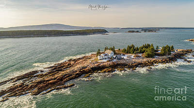 Photograph - Mark Island, Winter Harbor Light by Michael Hughes