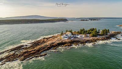 Photograph - Mark Island, Winter Harbor Light by Michael Hughes