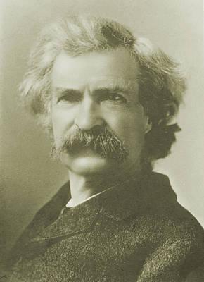 Photograph - Mark Twain  Portrait by American School