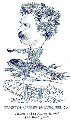 Drawing - Mark Twain Poster For Talk At Brooklyn Academy by American School