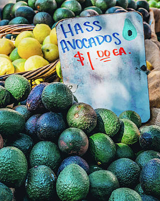 Photograph - Market Avocados by Brett Nelson