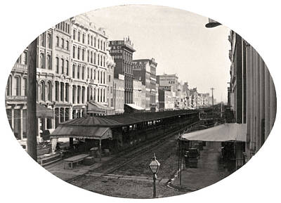 Photograph - Market Street, East Of 6th, Philadelphia, C. Late 1850s by Thomas S Hacker