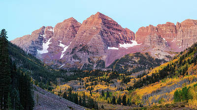 Traditional Bells - Maroon Bells at Dawn by Eric Glaser