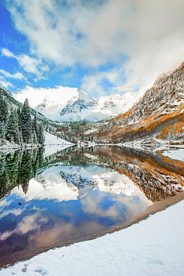 Photograph - Maroon Bells Colorado Mountain Landscape by Gregory Ballos