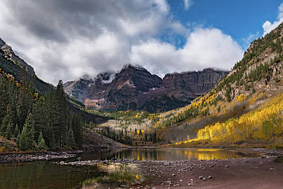 Photograph - Maroon Bells by William Christiansen
