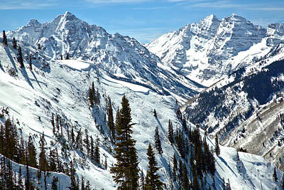 Photograph - Maroon Bells Winter Paradise by Adam Jewell