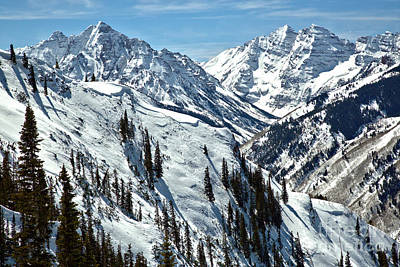 Photograph - Maroon Bells Winter Wonderland by Adam Jewell
