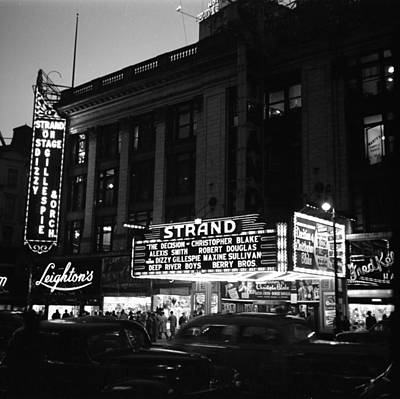Photograph - Marquee For Dizzy Gillespie At The by Donaldson Collection