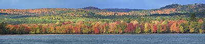 Photograph - Marquette Autumn Panorama 10121801 by Rick Veldman